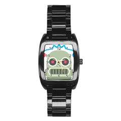 Robot Stainless Steel Barrel Watch by BestEmojis