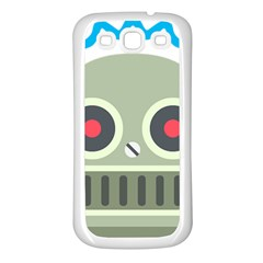 Robot Samsung Galaxy S3 Back Case (white) by BestEmojis