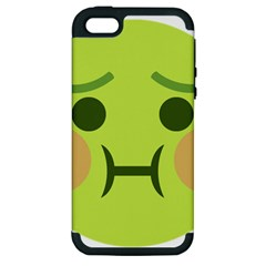 Barf Apple Iphone 5 Hardshell Case (pc+silicone) by BestEmojis