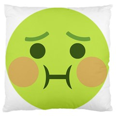 Barf Large Flano Cushion Case (two Sides) by BestEmojis