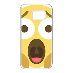 Scream Emoji Samsung Galaxy S7 White Seamless Case by BestEmojis