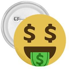 Money Face Emoji 3  Buttons by BestEmojis
