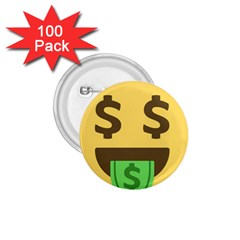 Money Face Emoji 1 75  Buttons (100 Pack)  by BestEmojis