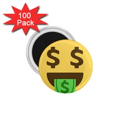 Money Face Emoji 1 75  Magnets (100 Pack)  by BestEmojis