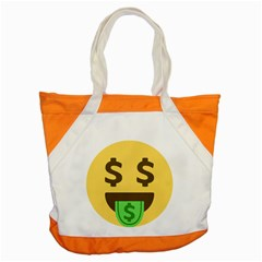 Money Face Emoji Accent Tote Bag by BestEmojis