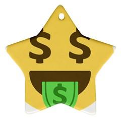 Money Face Emoji Star Ornament (two Sides) by BestEmojis