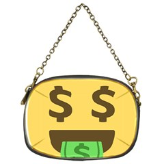 Money Face Emoji Chain Purses (one Side)  by BestEmojis