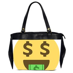 Money Face Emoji Office Handbags (2 Sides)  by BestEmojis