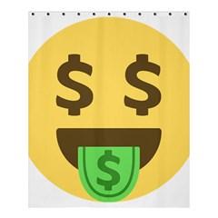 Money Face Emoji Shower Curtain 60  X 72  (medium)  by BestEmojis