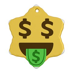 Money Face Emoji Ornament (snowflake) by BestEmojis