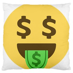 Money Face Emoji Large Cushion Case (two Sides) by BestEmojis