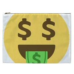 Money Face Emoji Cosmetic Bag (xxl)  by BestEmojis