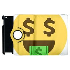 Money Face Emoji Apple Ipad 2 Flip 360 Case by BestEmojis