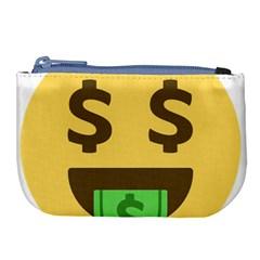 Money Face Emoji Large Coin Purse by BestEmojis