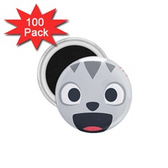 Cat Smile 1 75  Magnets (100 Pack)  by BestEmojis