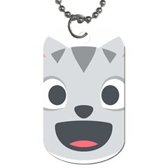 Cat Smile Dog Tag (one Side) by BestEmojis