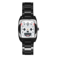 Cat Smile Stainless Steel Barrel Watch by BestEmojis
