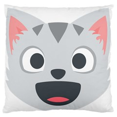 Cat Smile Large Flano Cushion Case (two Sides) by BestEmojis