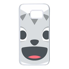 Cat Smile Samsung Galaxy S7 White Seamless Case