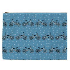 Bicycles Pattern Cosmetic Bag (xxl)  by linceazul