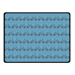 Bicycles Pattern Fleece Blanket (small) by linceazul