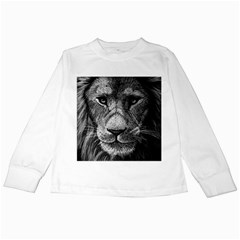 My Lion Sketch Kids Long Sleeve T Shirts by 1871930