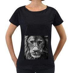 My Lion Sketch Women s Loose Fit T Shirt (black) by 1871930