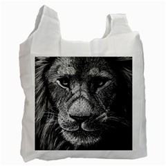 My Lion Sketch Recycle Bag (two Side)  by 1871930