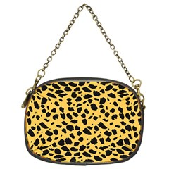 Skin Animals Cheetah Dalmation Black Yellow Chain Purses (one Side)  by Mariart