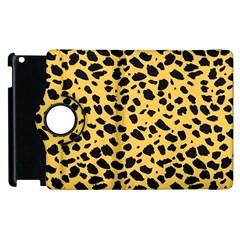 Skin Animals Cheetah Dalmation Black Yellow Apple Ipad 2 Flip 360 Case by Mariart