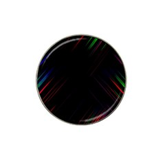 Streaks Line Light Neon Space Rainbow Color Black Hat Clip Ball Marker by Mariart