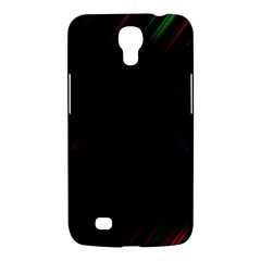 Streaks Line Light Neon Space Rainbow Color Black Samsung Galaxy Mega 6 3  I9200 Hardshell Case by Mariart