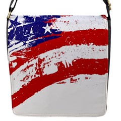 Red White Blue Star Flag Flap Messenger Bag (s) by Mariart