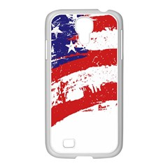 Red White Blue Star Flag Samsung Galaxy S4 I9500/ I9505 Case (white) by Mariart
