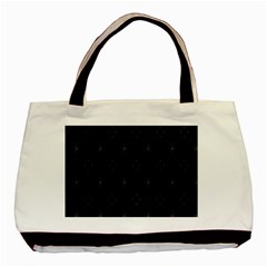 Star Black Basic Tote Bag (two Sides) by Mariart