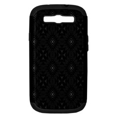 Star Black Samsung Galaxy S Iii Hardshell Case (pc+silicone) by Mariart