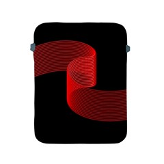 Tape Strip Red Black Amoled Wave Waves Chevron Apple Ipad 2/3/4 Protective Soft Cases by Mariart