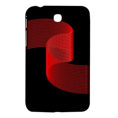 Tape Strip Red Black Amoled Wave Waves Chevron Samsung Galaxy Tab 3 (7 ) P3200 Hardshell Case  by Mariart