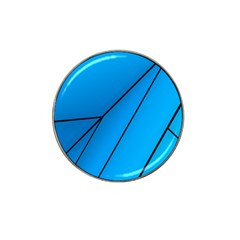 Technical Line Blue Black Hat Clip Ball Marker (10 Pack) by Mariart