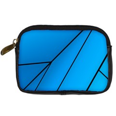 Technical Line Blue Black Digital Camera Cases by Mariart