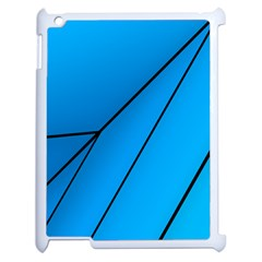 Technical Line Blue Black Apple Ipad 2 Case (white) by Mariart