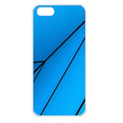 Technical Line Blue Black Apple Iphone 5 Seamless Case (white) by Mariart