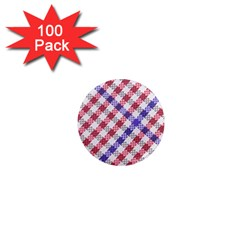 Webbing Wicker Art Red Bluw White 1  Mini Magnets (100 Pack)  by Mariart