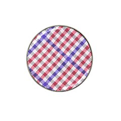 Webbing Wicker Art Red Bluw White Hat Clip Ball Marker (4 pack) by Mariart