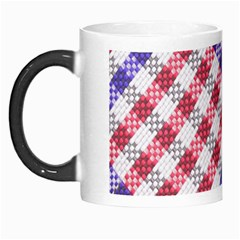 Webbing Wicker Art Red Bluw White Morph Mugs by Mariart