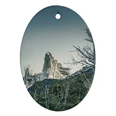 Fitz Roy Mountain, El Chalten Patagonia   Argentina Ornament (oval) by dflcprints