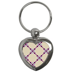 Pattern Background Vector Seamless Key Chains (heart)  by Nexatart