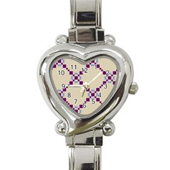Pattern Background Vector Seamless Heart Italian Charm Watch by Nexatart
