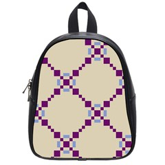 Pattern Background Vector Seamless School Bags (small)  by Nexatart