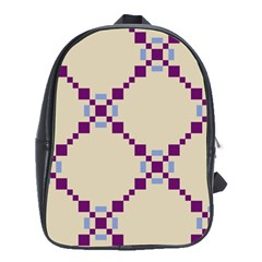 Pattern Background Vector Seamless School Bags (xl)  by Nexatart